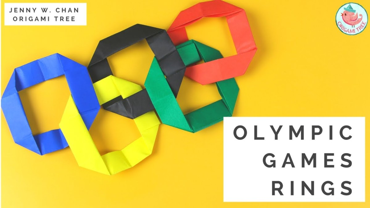 Origami Olympic Rings - Rio 2016