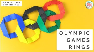 Origami Olympics Rings Tutorial by Origami Tree Jenny W. Chan
