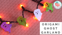 Origami Ghost Garland Tutorial - Origami Tree