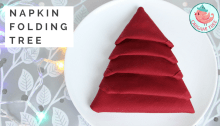 Napkin Folding Christmas Tree Tutorial
