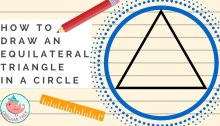 How to Draw A Triangle in A Circle