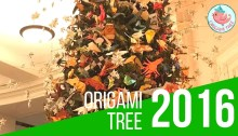 Origami Holiday Tree AMNH American Museum of Natural History 2016