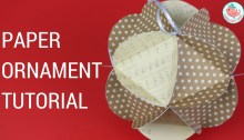 Paper Ornament Tutorial Triangle in Circle Units