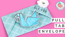 Origami Pull Tab Envelope Tutorial by Origami Tree | Jenny W. Chan