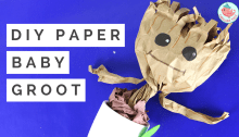 Paper Baby Groot | Jenny W Chan, Origami Tree