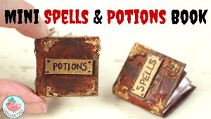Mini Book Tutorial - spells and potions book