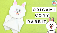Origami Cony from Line App