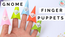 origami gnome finger puppets tutorial | Origami Tree Jenny W. Chan