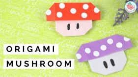 origami mushroom tutorial | Jenny W Chan Origami Tree
