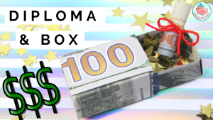 Dollar Origami Box and Diploma