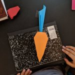 Origami Carrot, Palmdale City Library | TUTORIAL: http://wp.me/p5AUsW-dz