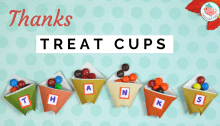 Origami THANKS Treat Cups Tutorial | Jenny W. Chan, Origami Tree