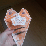 Origami Tiger Bookmarks, @griz_plush_bear | TUTORIAL: http://wp.me/p5AUsW-VF
