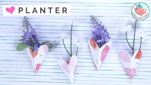 3D Heart Planter Tutorial - Jenny W. Chan Origami Tree