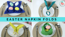 Easter Napkin Folding Tutorials