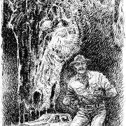 Ilustración para El ladrón de caballos, por Juan Alberto Hernández