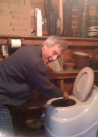 Mark and the composting toilet