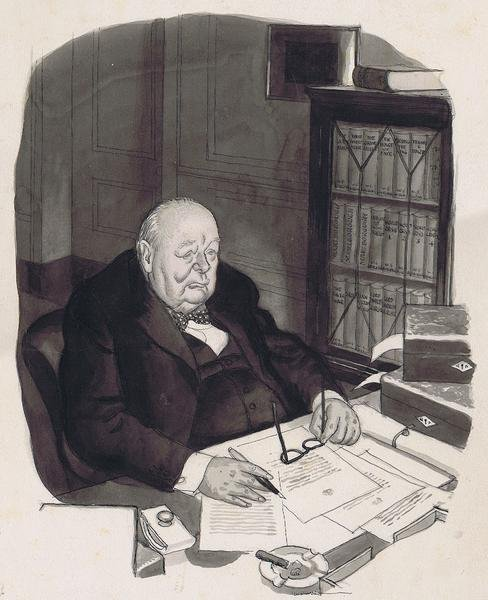 Illingworth's controversial Punch cartoon of Churchill from February, 1954