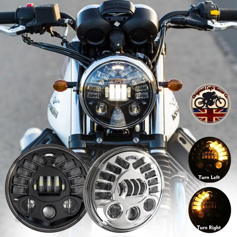 Led Headlights Black 70w Dot Sae E9