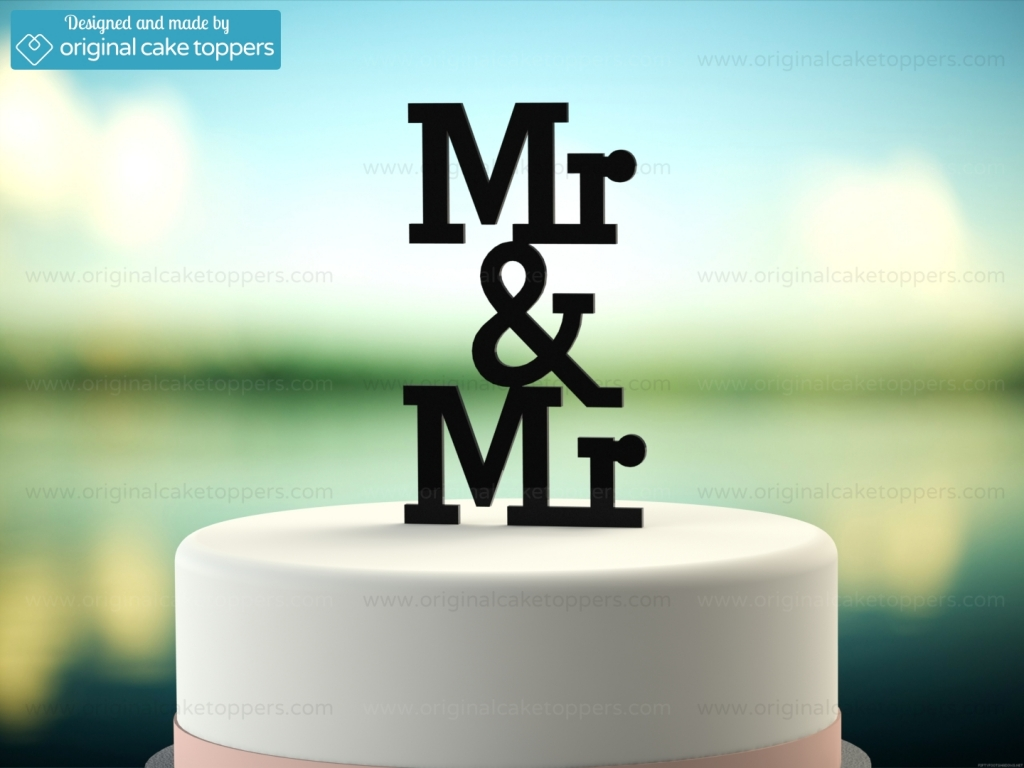 Mr Amp Mr Black Gay Wedding Cake Topper Original
