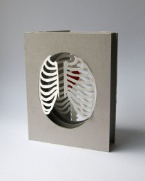 'Cardiothoracic' tunnel book/card: half-closed