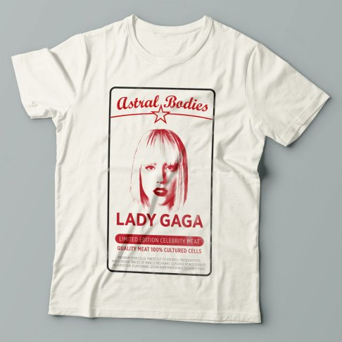 Lady Gaga - Antiviral mashup design on a t-shirt