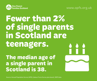 Infographic: Only 2% of single parents are teenagers. Average age is 38