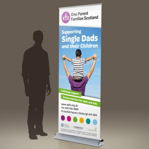 OPFS Fathers' Service pull-up banner design 1