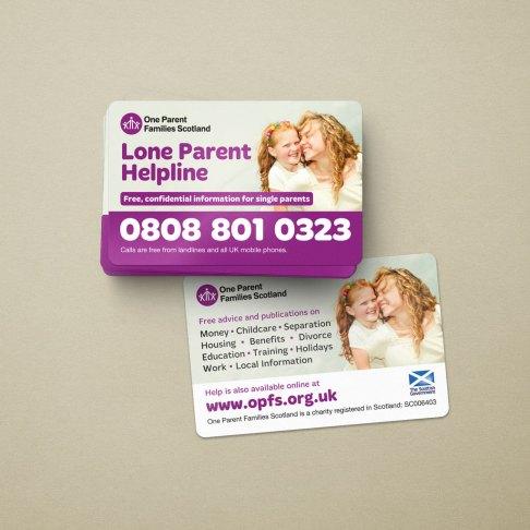 OPFS promotional helpline cards