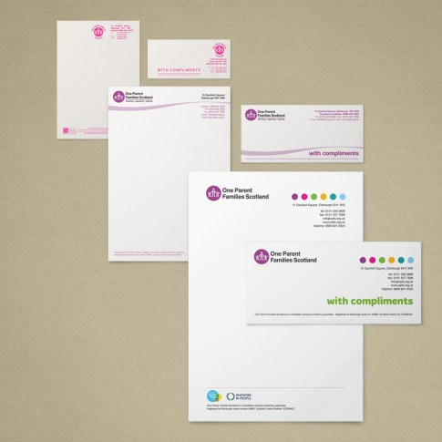 Iterations of branding from an older more formal look to a new, vibrant brand.