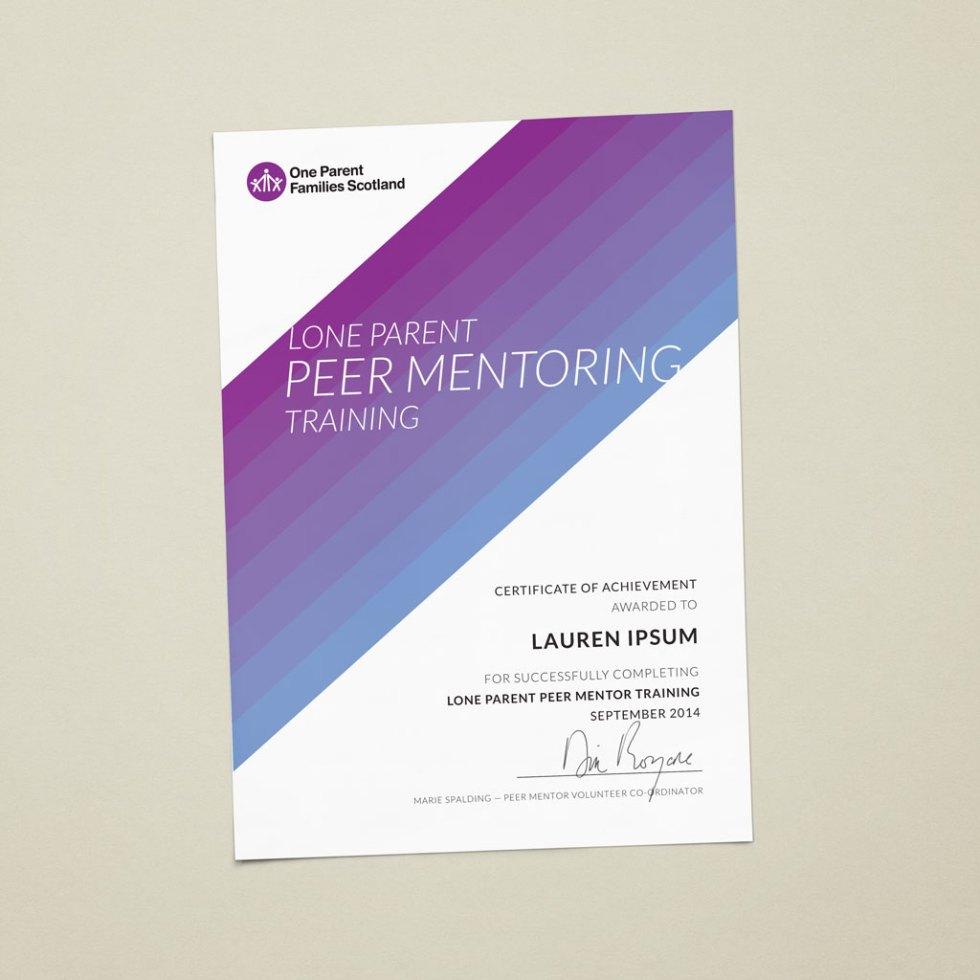Modern, clean and crisp course certificate design