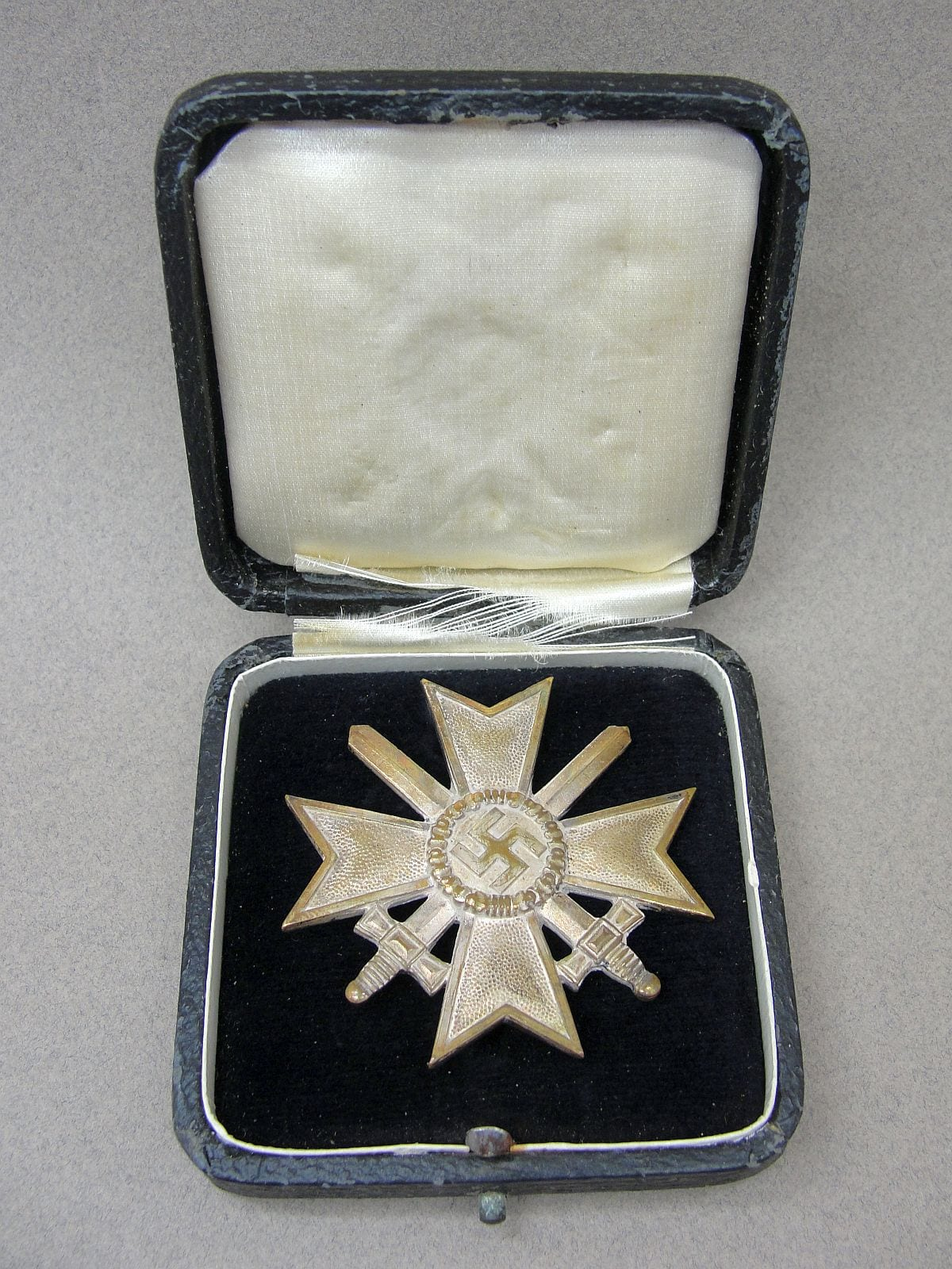 Cased War Merit Cross First Class With Swords By L 12