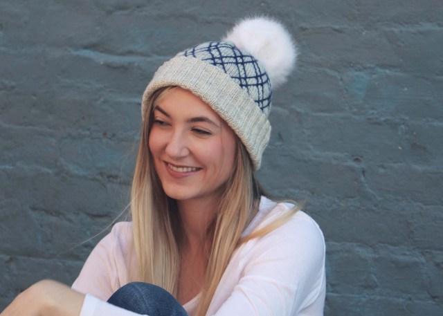 Diamond Lattice Hat knitting pattern lifestyle image