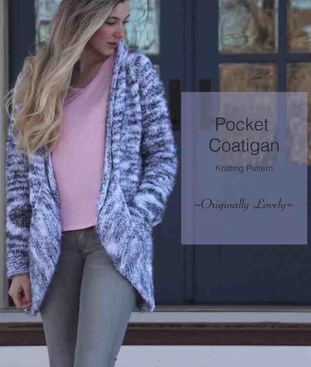Pocket Coatigan Knitting Pattern Originally Lovely