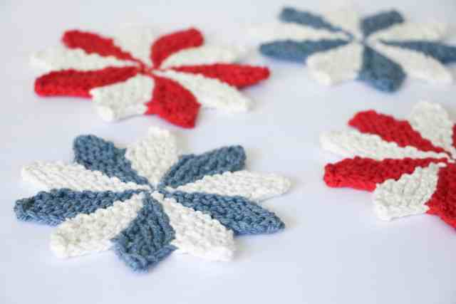 Pinwheel Coasters Knitting Pattern Originally Lovely