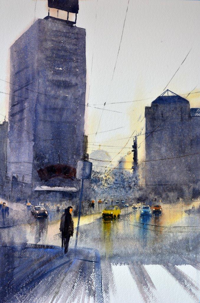 Beogradu s ljubavlju akvarel