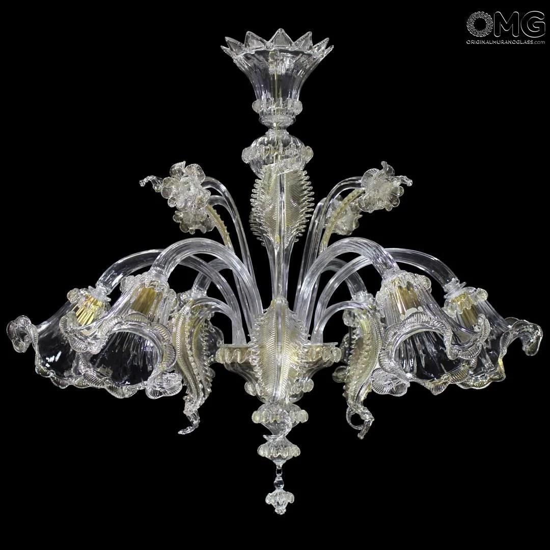 Lampadari di murano · lampadari murano · murano lampadari · fabbrica lampadari di murano · lampadari in vetro di murano · lampadari di murano moderni Venetian Chandelier Gemma Gold Classique Murano Glass