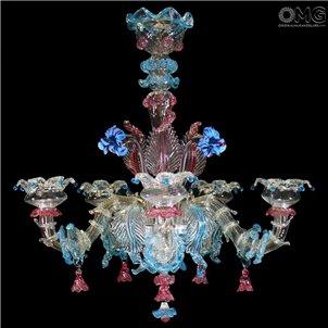 Chandelier Fiorino Rezzonico Murano Glass 5 Lights