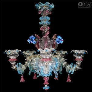 Chandelier Fiorino Rezzonico Murano Glass 5 Lights