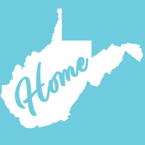 West Virginia Home Decal White
