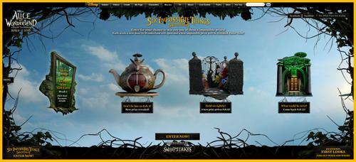 Tim Burton's 'Alice in Wonderland' Sweepstakes Prizes ...