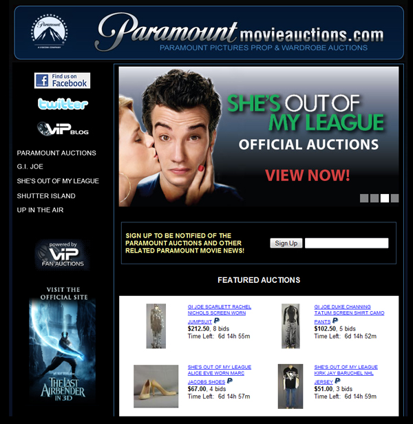 VIP Fan Auctions Launches Official Paramount Pictures ...