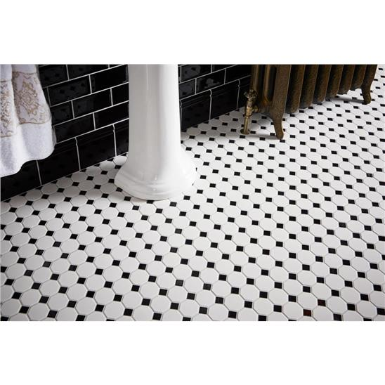 classic octagon and dot tile