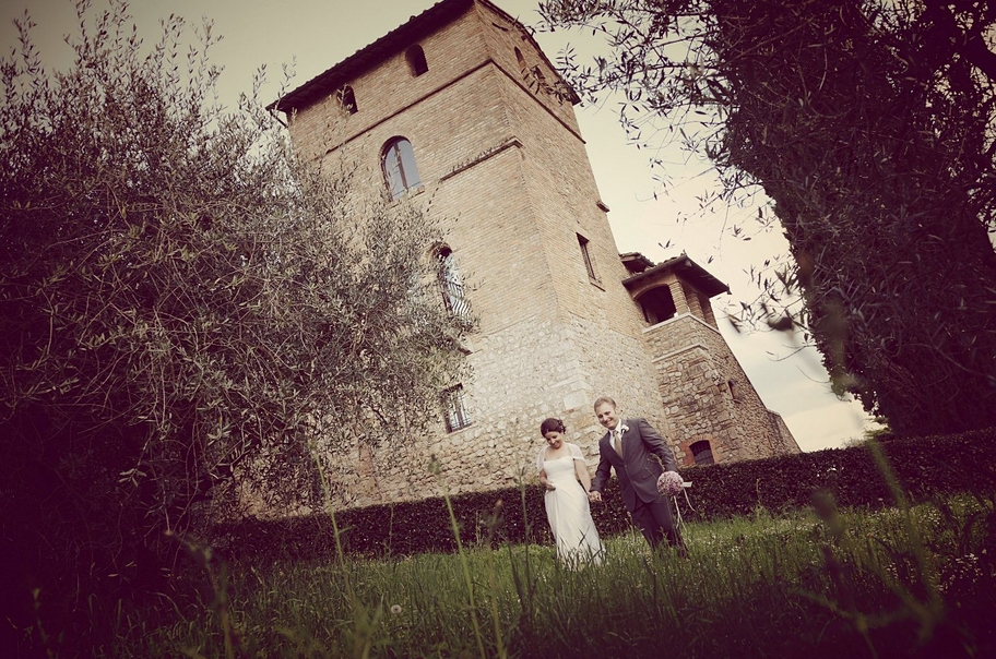 Caroline & Victor wedding at Agriturismo Il Palagetto