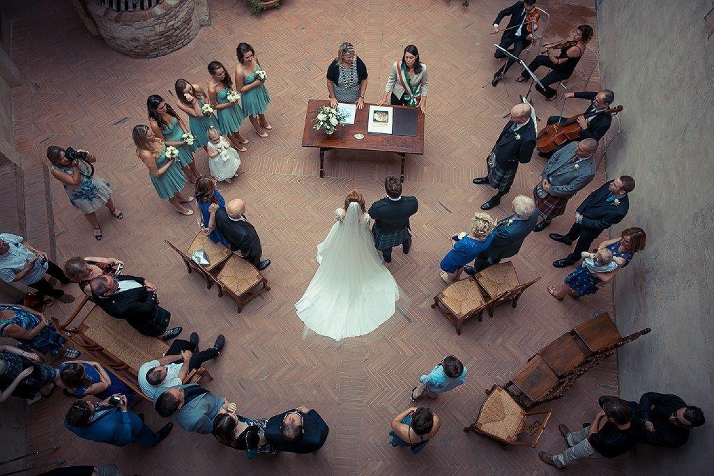 Amy & Steven cerimony in Certaldo