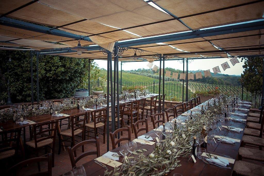 reception at Villa La Lucciolaia