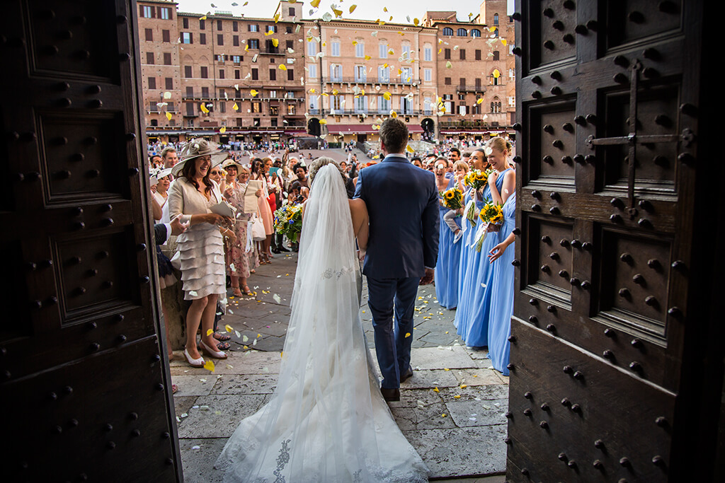wedding in medieval town