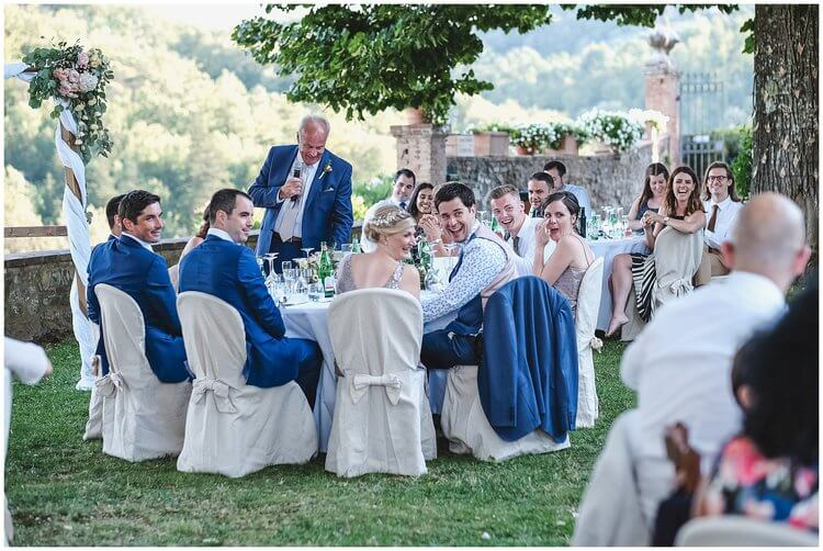 wedding reception villa tuscany