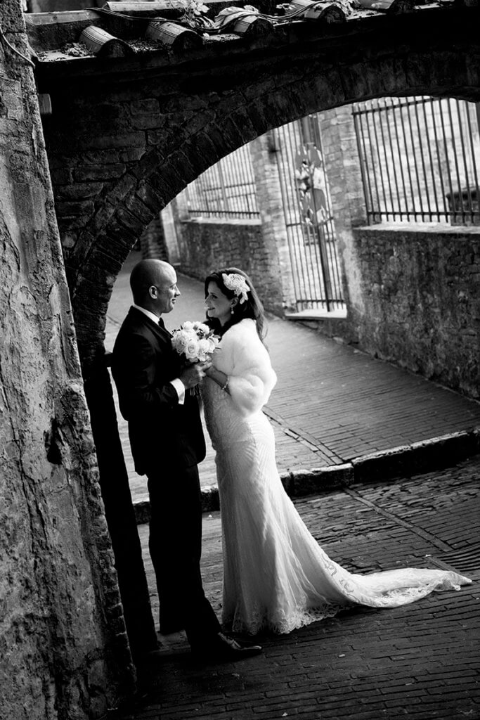 winter wedding in Siena