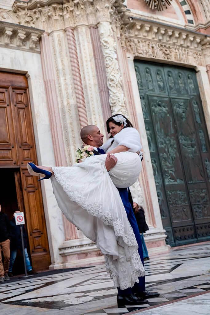 Christmas wedding in Siena